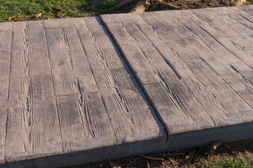 Stamped Concrete Woodgrain