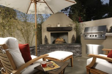 Concrete Patio and outdoor kitchen