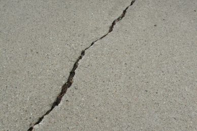 crack in concrete in need of repair