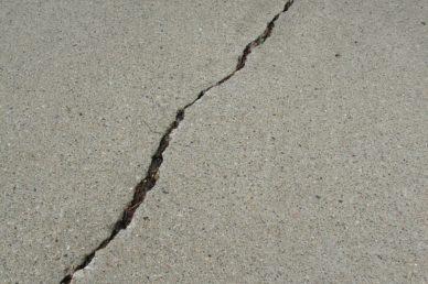 crack in concrete in need of repair
